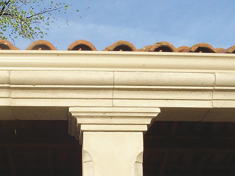 Corniches pierre reconstituée Poupelin