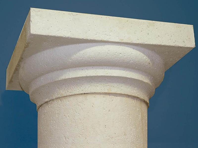 Pilier rond pierre reconstituée Poupelin