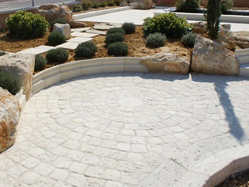 Pavés - Rosace pierre reconstituée Poupelin